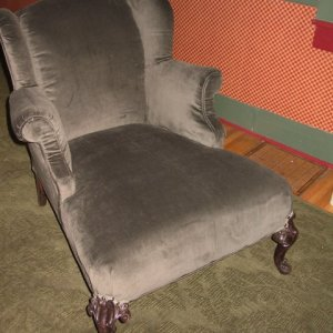 The client found vintage fabric for her grandmother's favorite chair