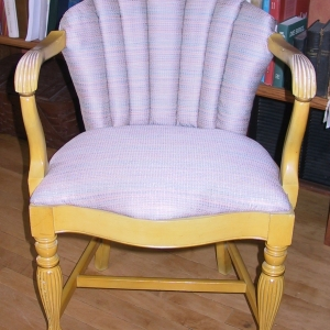 """A fresh new look to a """"just right"""" sized little chair"""