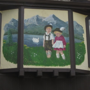 Mural on a local home