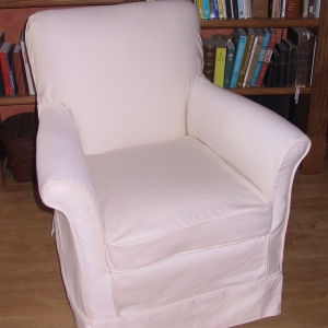 A serviceable winter chair gets freshened up for summer at the lake cottage