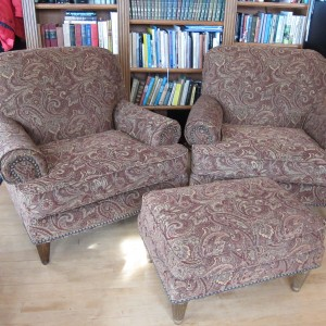 High quality chairs with hobnail detailing benefit from a beautiful new cover fabric