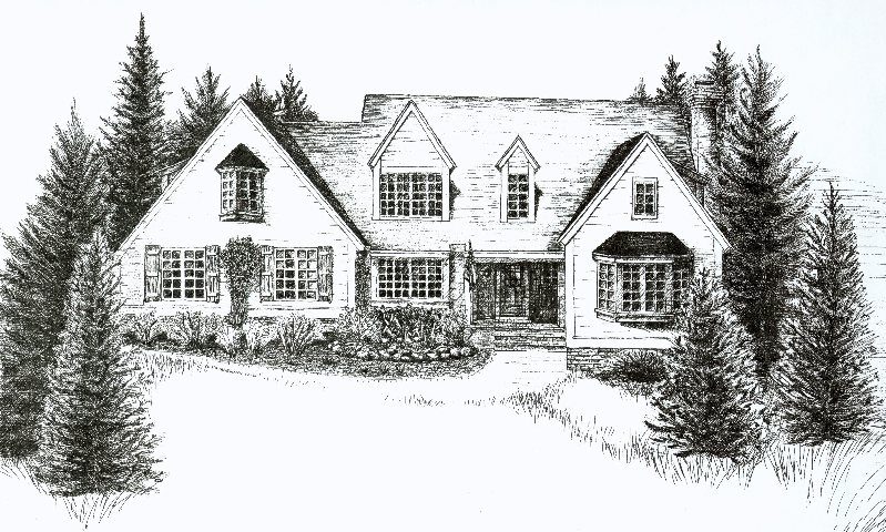 The client designed and built this beautiful home in Wausau, Wisconsin