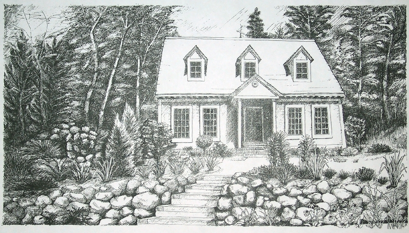 Lovely Lake Cottage designed and built by the owner, Northern Wisconsin.