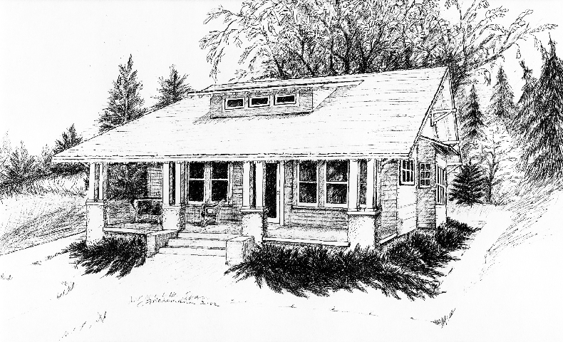A 1913 Sears Kit Home in North Lake, Wisconsin.