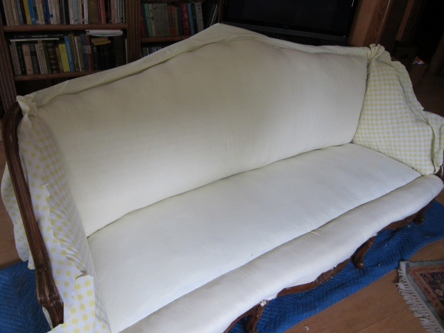 A cotton muslin cover holds horsehair in place